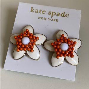 Enamel earrings by kate spade